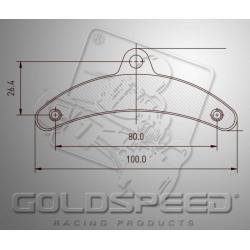 Brakepad SET GOLDSPEED 544 DINO FRONT