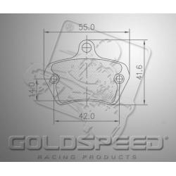 Brakepad SET GOLDSPEED 549 BIREL FRONT