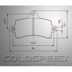 Brakepad SET GOLDSPEED 550 TOP KART FRONT