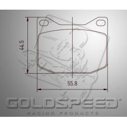 Brakepad SET GOLDSPEED 546 TOP KART rear
