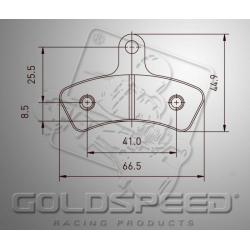 Brakepad SET GOLDSPEED 557 K-KART/MARANELLO/MS  rear