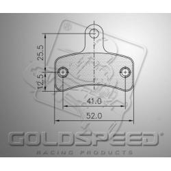 Brakepad SET GOLDSPEED 558 SWISS HUTLESS FRONT KZ
