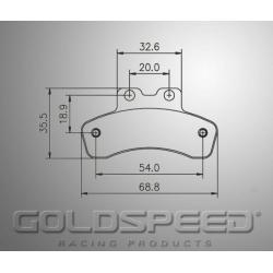 Brakepad SET GOLDSPEED 561 SWISS FRONT HANDBRAKE