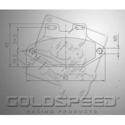 Brakepad SET GOLDSPEED 562 MADDOX/GILLARD FRONT