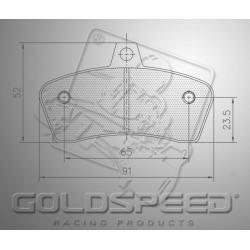 Brakepad SET GOLDSPEED 546 TOP KART rear