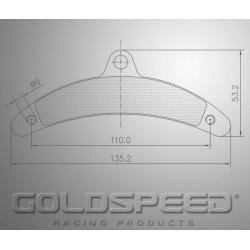 Brakepad SET GOLDSPEED 564 GILLARD T-REX rear