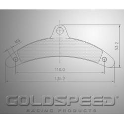 Brakepad SET GOLDSPEED 564 GILLARD T-REX rear