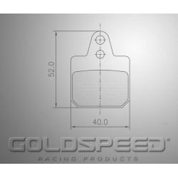 Brakepad SET GOLDSPEED 568 BIREL REAR WIDE HOLES