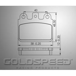 Brakepad SET GOLDSPEED 572 BIREL '13 / FLANDRIA