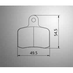 Brakepad SET GOLDSPEED 593 VEN 05/AMW/GILLARD rear