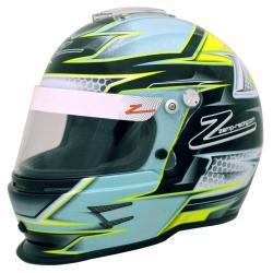 Zamp Helm RZ-42Y Youth Snell CMR2016 Groen-Zilver