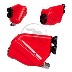 "Luchtfilter 23mm ""ACTIEF"" (blauw/rood/zwart)"