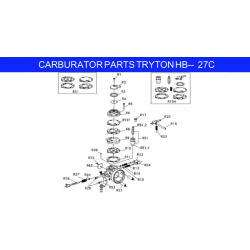 pump diaphragm gasket HB27 Iame X30
