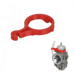 Fuel Line Support for 30mm Dell'Orto Carburetor, red colour