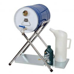 Folding Fuel Barrel Stand with Table