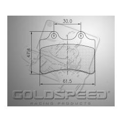 Brakepad SET GOLDSPEED 516 HAASE RUNNER REAR